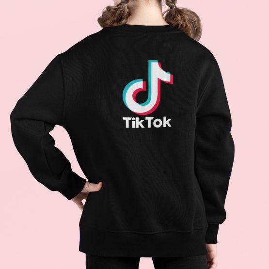 TikTok Trui Kind Zwart Back