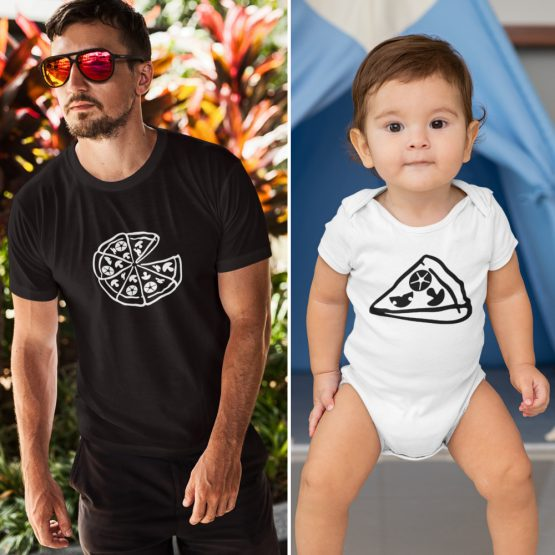 Vader Zoon T-Shirt + Romper Pizza Slice