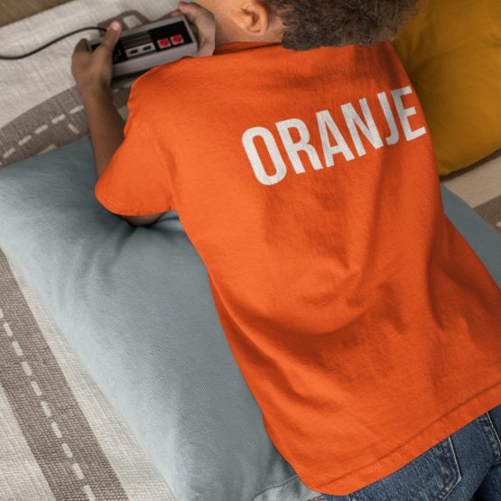 WK EK Koningsdag T-shirt Kind Oranje Back
