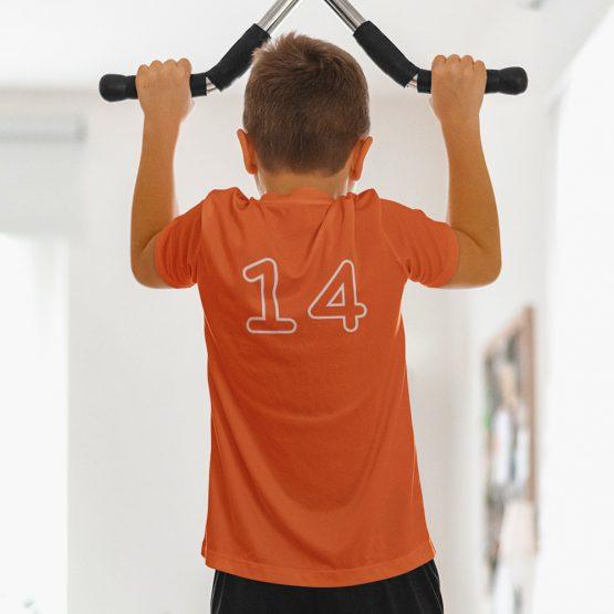 WK EK T-shirt Kind + Wit Nummer