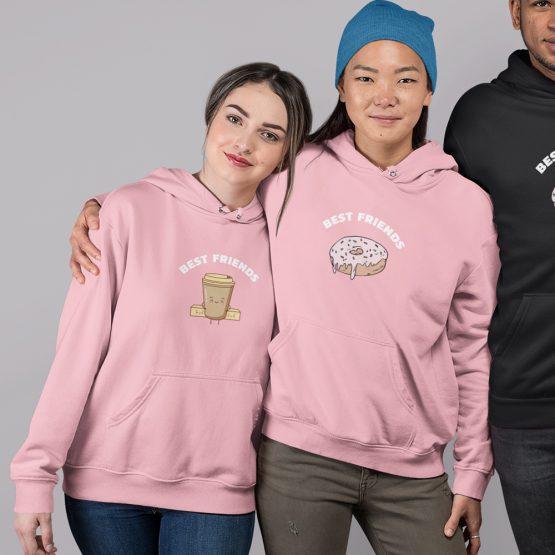 BFF Hoodie Koffie & Donut Roze