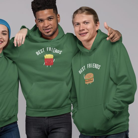 BFF Hoodies Hamburger & Friet Groen