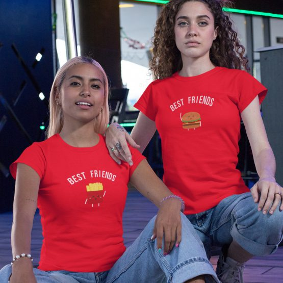 BFF T-shirts Hamburger & Friet Rood