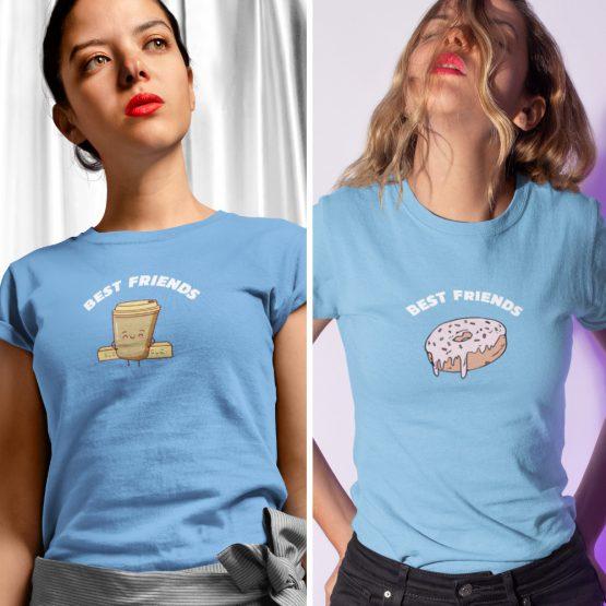 BFF T-shirts Koffie & Donut Blauw