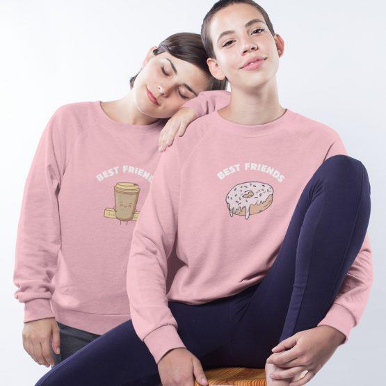 BFF Trui Koffie & Donut Roze