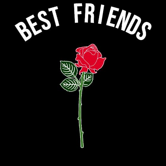 Best Friends Opdruk Roos
