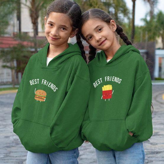 BFF Hoodie Kind Patat & Friet Groen