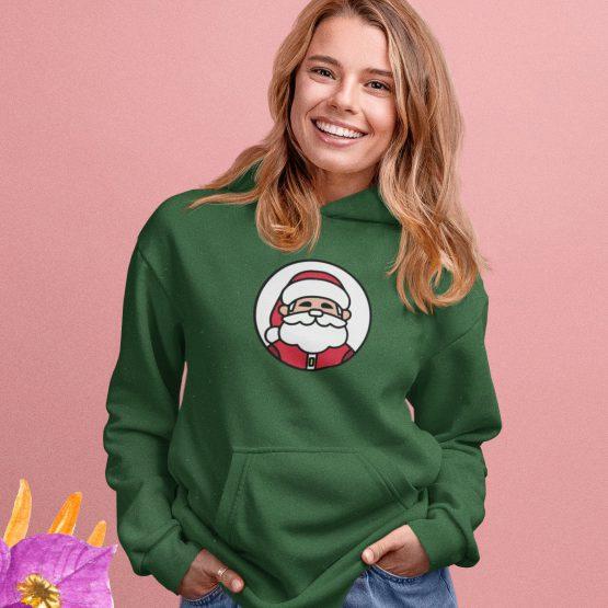Kerst Hoodie Groen Kerstman