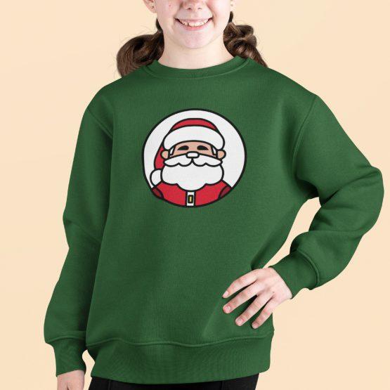 Kersttrui Kind Groen Kerstman