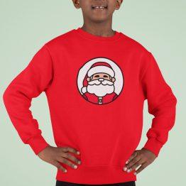 Kersttrui Kind Rood Kerstman
